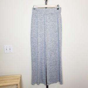 Gap Softspun Knit Wide Leg Pants Light Gray NWT